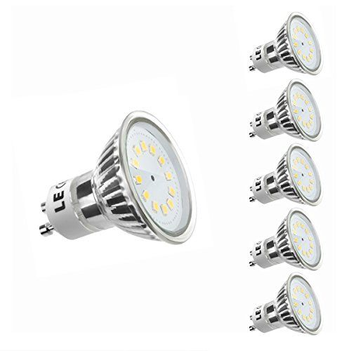 LE 5er GU10 LED Lampen ersetzt 35W Halogenlampen MR16 2.5W 260lm Warmwei� 3000K 120� Abstrahwinkel LED Birnen Leuchtmittel