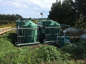 Ozzi Kleen SK25 on-site sewage treatment system - wastewater treatment plant skid mounted for easy delivery and relocation
