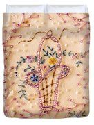 Vintage Lampshade Panel Detail Duvet Cover by Sandra Foster