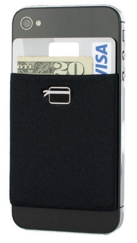 The wallet that you can stick at the back of your smartphone. Flexible enough to hold up to 8 cards and cash too. #Wallet #Men's Best Wallet