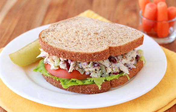 The BEST chicken salad #sandwich… only 268 calories!