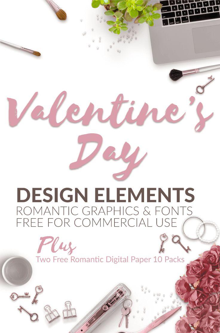 I think we can all agree that finding Valentine's Day design elements for your blog and social media can soak up a lot of time and resources. What if you had all the resources you need to create a months worth of blog images and social media posts? You'de definitely have more time for writing amazing content, promotion or taking a nap if you need one. That's why I put together this resource bundle, this collection will save you so much time! #CommercialUse  #freefonts #Valentine'sDay…