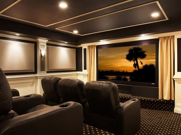 Contemporary Basement Theater Design Billiardfactory