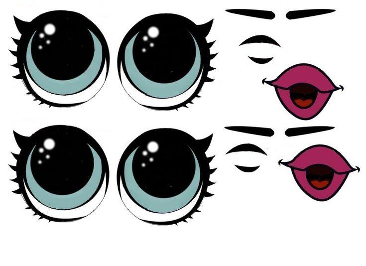 что картинка милые глазки рисунок шаблон поможет