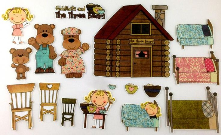 Goldilocks and the Three Bears Felt Board Story Set by byMaree on Zibbet