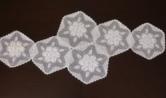 Vintage Doily Runner Wedding Table by AccessoriesInLove on Etsy, $48.00