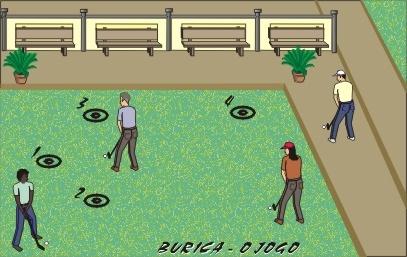 Mais uma adaptação do tradicional jogo de bolinha de gude. Neste jogo o objetivo é eliminar as bolas do adversários e restar-se sozinho no campo de jogo.