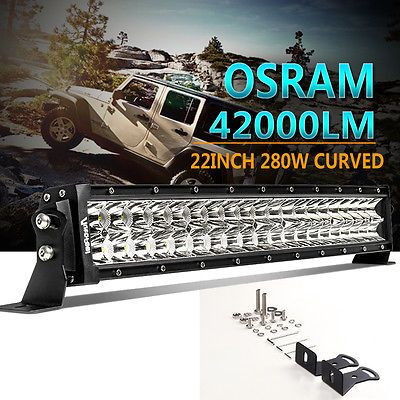 Curved Osram 22inch 280W Led work Light Bar For Ford Suv ATV Off road Jeep Dodge
