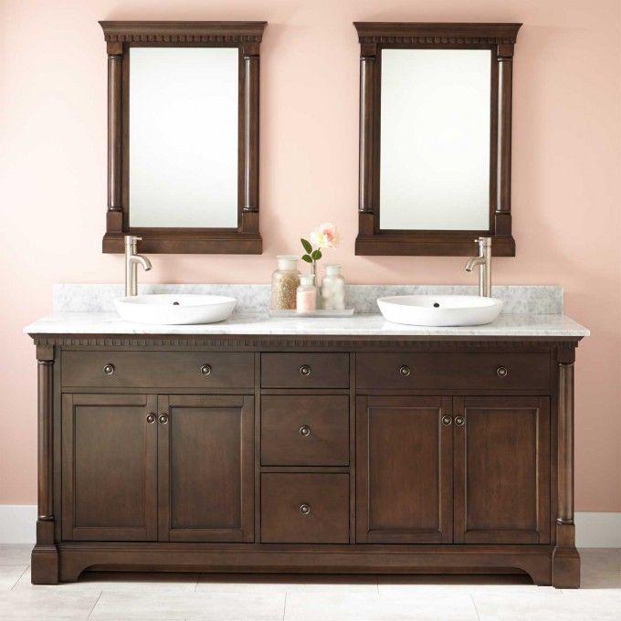 Best Bathroom Double Vanity Images On Pinterest Bathroom - Bathroom mirrors over double vanity