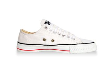 White Low Cuts (Kids) - Fair Trade Shop. 'They may look similar to a well-known brand but these bad boys are radically different. Read more on our website.' #shoes #sneakers #fairtrade #kids