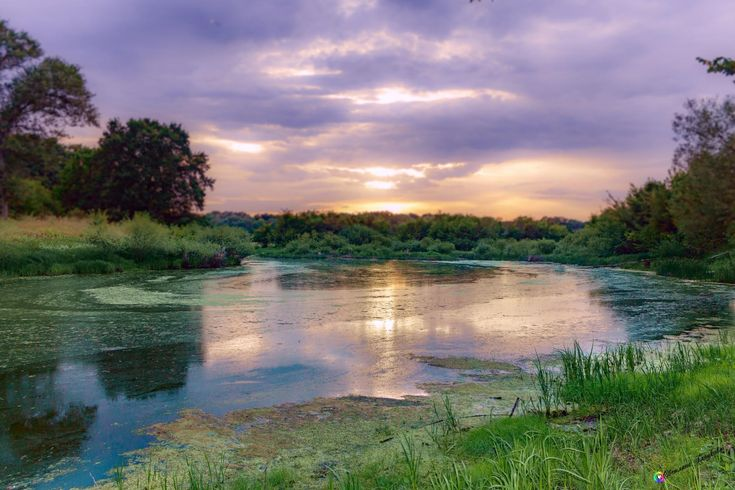 Закат. Старое русло реки Вороны