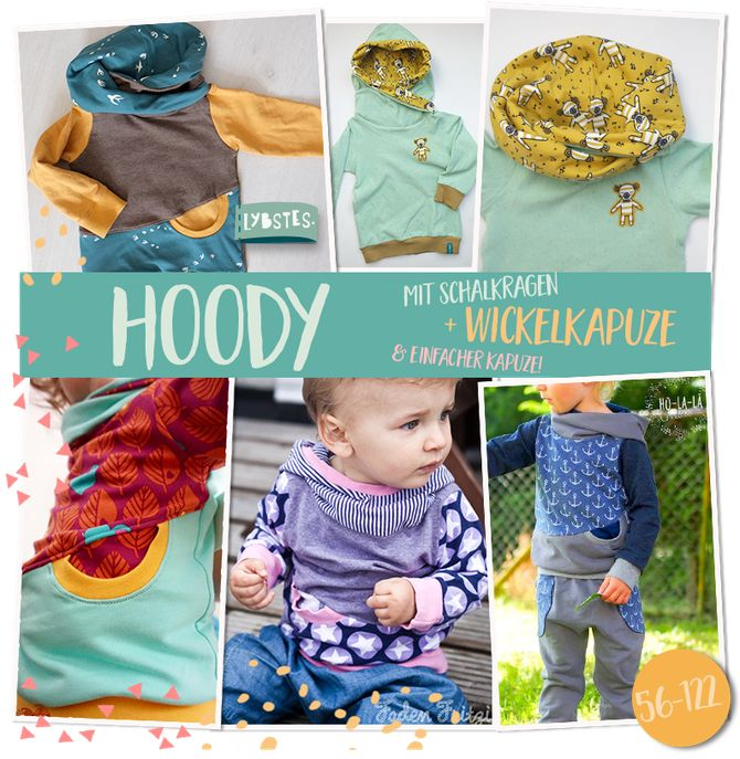 "E-Book Nr. 11: Lybstes Pullover ""HOODY"" mit Wickelkapuze"