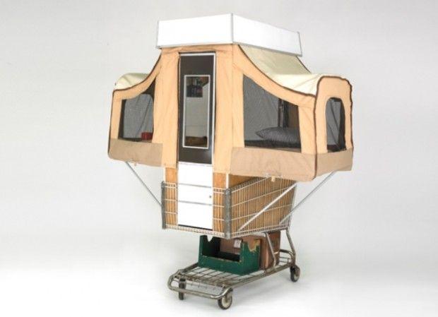 Polpa Moldada - Embalagens Sustentáveis: Artista transforma carrinho de compras em casa iti...