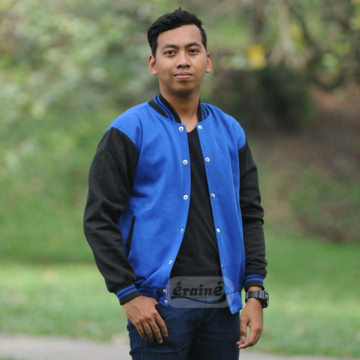 Varsity Jacket Royal Blue Black