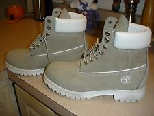 Timberland Boots - 6 Inch Suede Leather Boot - Grey & White - Brand New!