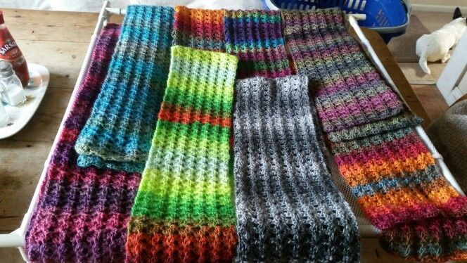 Scarfs made for xmas presents