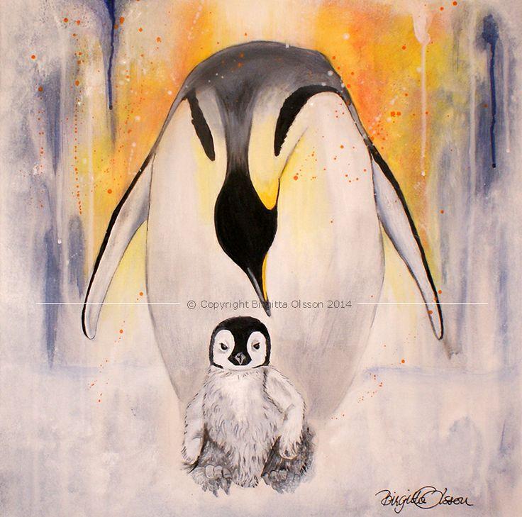 Pingvinmamma och barn :)