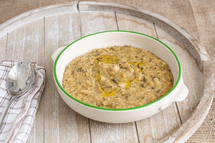 Polenta-Suppe mit Palmkohl aus der Toskana. Schmackhaft und gesund.  #italienischkochen