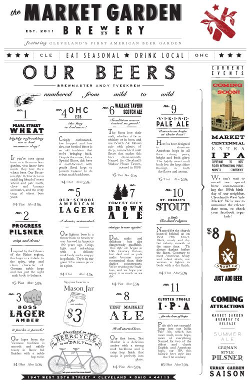 Best Menu Design Images On   Menu Design Beer And