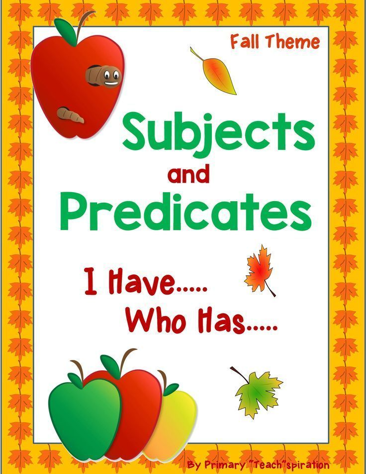 This Subjects and Predicates game is great for review, ELA test prep, listening skills, and just a fun and exciting time for the kids! There are 32 I Have Who Has cards, as well as directions and an answer key.