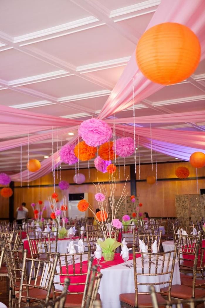 Modern asian themed 1st birthday party with lots of cute for Asian party decoration