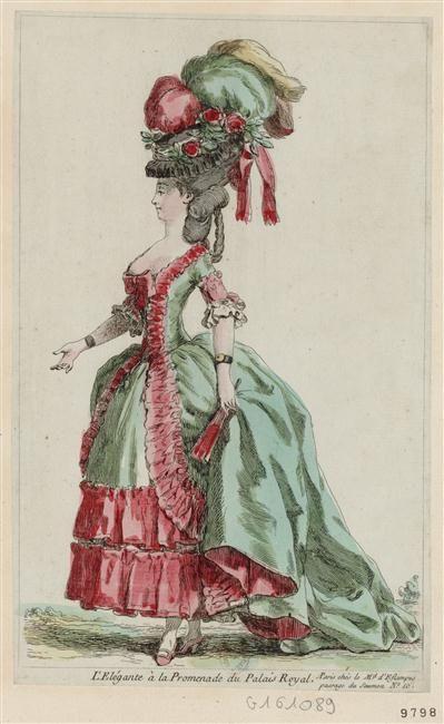 L'élégante à la promenade du Palais-Royal. 1779-1780.