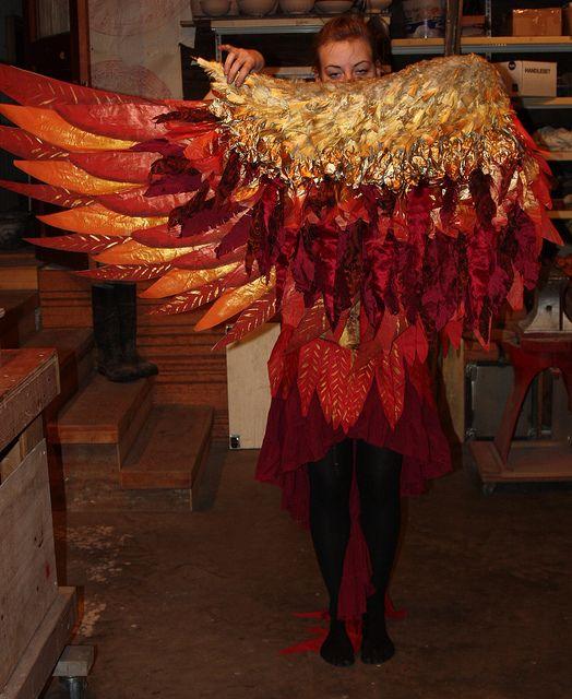 Phoenix costume for Edible Alien Theatre by The Echo Exchange, via Flickr