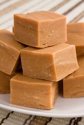 Penuche Fudge ~   •2 1/2 cups brown sugar   •2 1/2 cups white sugar   •2 cups whole milk or half and half   •1 cup unsalted butter   •1 teaspoon salt   •2 teaspoons pure vanilla extract   •1/2 cup toasted, finely chopped pecans or walnuts (optional  ~~~Follow the link for the instructions.