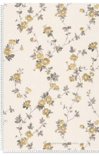 Petites fleurs bronze - Papier peint Romantica 3 d'AS Création