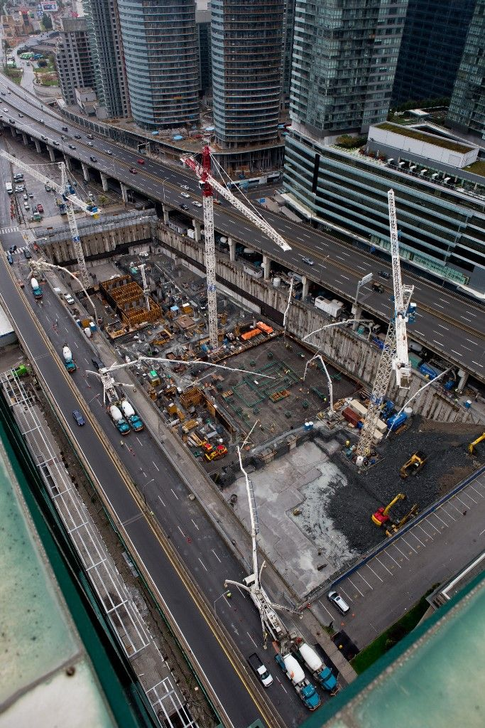 Pouring the raft slab at #OneYork - October 5, 2013 #SouthCore #Toronto