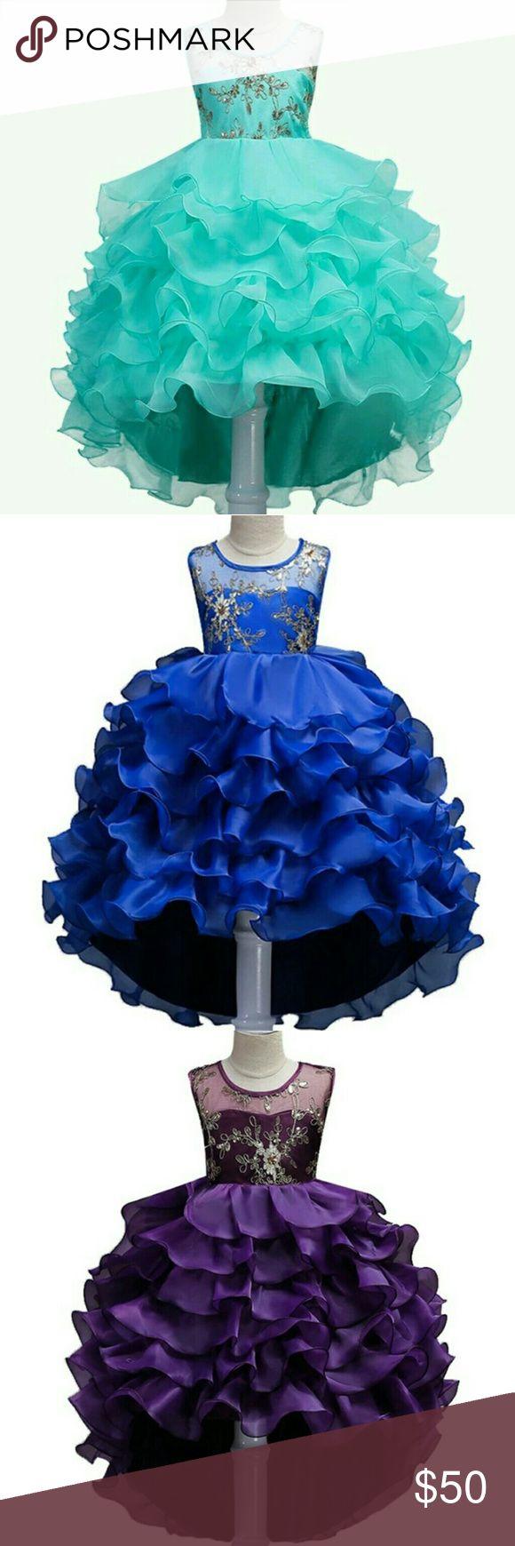 Girls dresses Girls ruffles bottom dresses for all occasion sizes 5-14 Dresses Formal