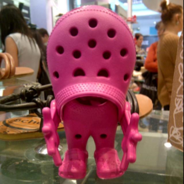 Mini crocs shoes person! So cute! I want he he
