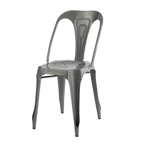 chaise indus en mtal multiplus maisons du monde uac grise with tabouret bar maison du monde. Black Bedroom Furniture Sets. Home Design Ideas