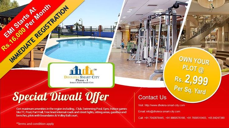 Book a Plot for Just Rs. 2,999 Per Sq.Yard and Make it Yours......EMI Starts from 16000/- Per Month. For further details Visit: https://goo.gl/l4zcLH You can reach us Here: info@dholera-smart-city.com Or Call: +91 7042878445, +91 8860576166, +91 7600510403, +65 84247380