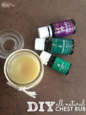 DIY All Natural Chest Rub! Keep this around for Fall and Winter. Put it on your chest or feet - also can be used on kids!