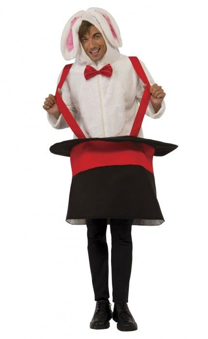 Adults Novelty Rabbit In A Hat Magician's Costume #Easter #Costume #Holidays #Coupons