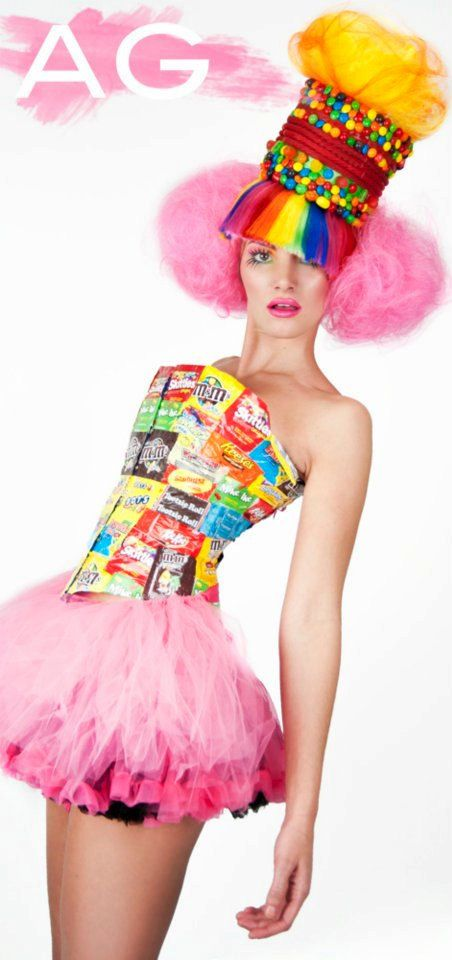 Candy Wrapper Corset... I like this for some weird reason! lol It's $299.00 though!!! Sheesh! It's hand made though and original... ??? You can get it with the actual candy too... for extra of course! lmao