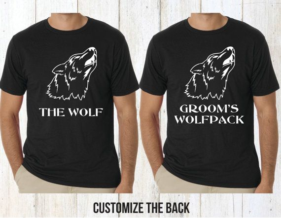 GROOMS WOLFPACK T-shirt...perfect for the upcoming Bachelor Party!  HOW TO ORDER:  1. Choose number of shirts needed from the drop down menu. 2. Add a