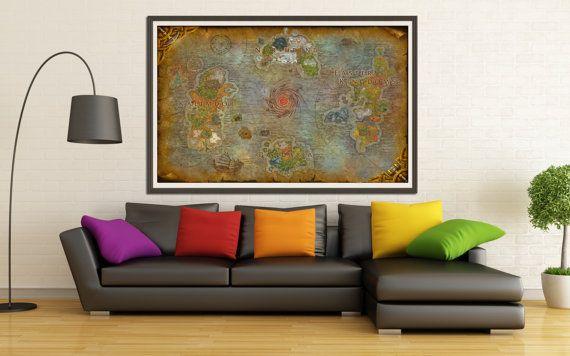Gran Azeroth mapa - mapa de World of Warcraft - fantasía mapa - WoW!