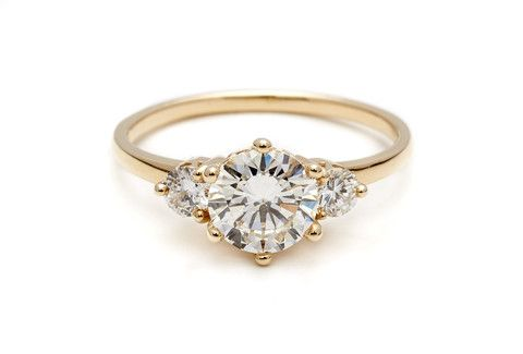 three stone ring. Not the cheapest thing in the world. :)