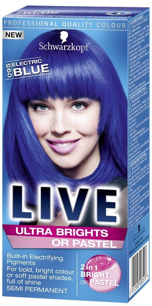 Live Color Xxl Schwarzkopf Ultra Brights 95 Electric Blue * You can get more details by clicking on the image.