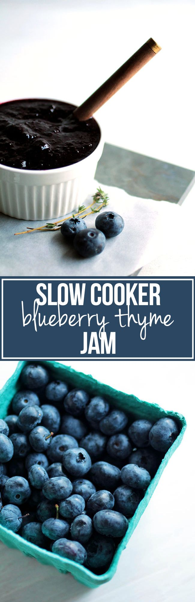 Slow Cooker Blueberry Thyme Jam