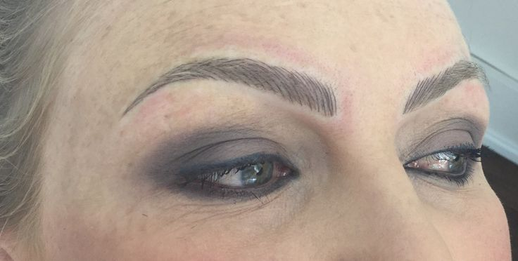 Immediately after the second session of Brow Embroidery. A striking set of brows.