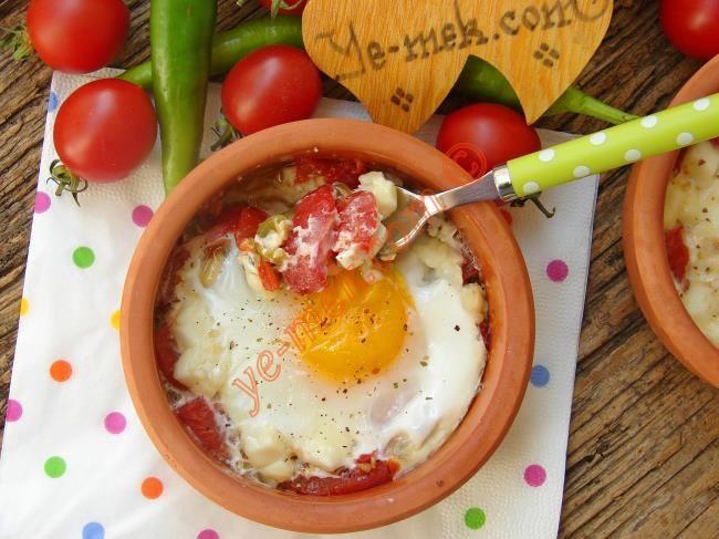 Fırında Domatesli Yumurta Resimli Tarifi - Yemek Tarifleri