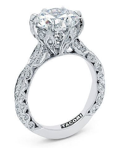 This but with a halo around the center stone =perfection! : Tacori, Tacori  Engagement Rings - Solomon Brothers at Solomon Brothers Fine Jewelry