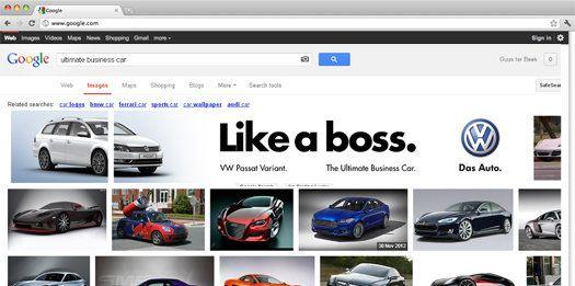 Volkswagen hace una campaña de SEO al más puro estilo Pinterest