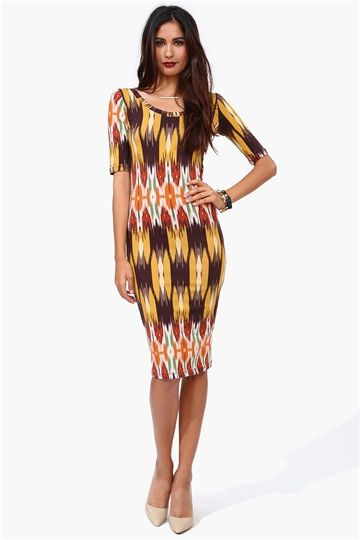 Ikat Pencil Dress