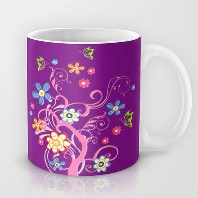 Flowery Flowers Mug by Sara PixelPixie - $15.00