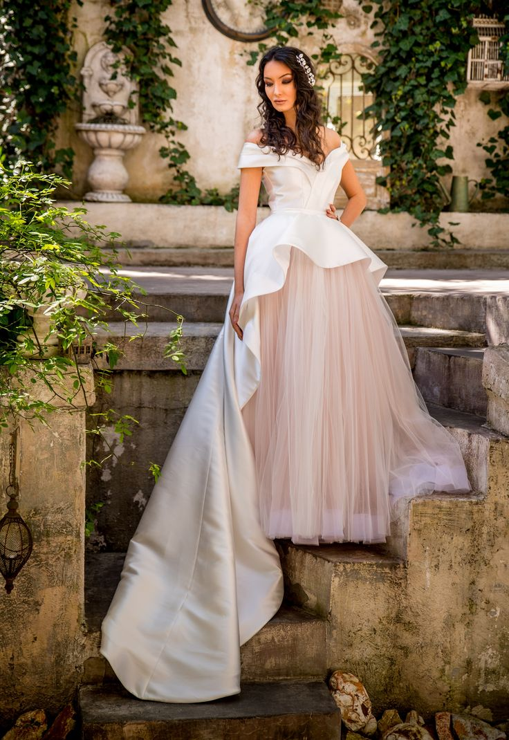 2018 Ball Gown from the Reve de Fleur Collection | A dazzling tulle and taffeta wedding dress.