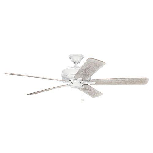 Terra Matte White 60-Inch Ceiling Fan